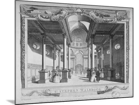 Interior View Looking East, Church of St Stephen Walbrook, City of London, 1750-John Boydell-Mounted Giclee Print