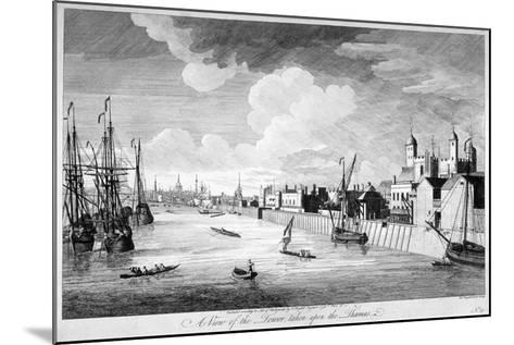 View of the Tower of London with Boats and Passengers on the River Thames, 1751-John Boydell-Mounted Giclee Print