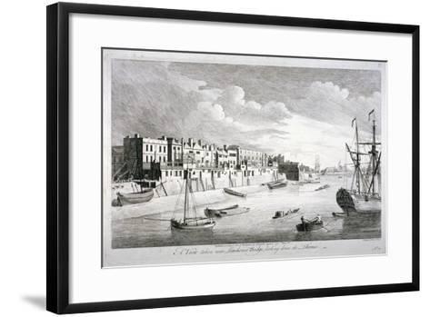View Near Limehouse Bridge, London, Looking Down the River Thames, 1751-John Boydell-Framed Art Print
