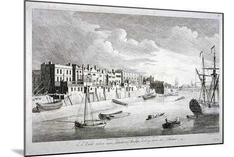 View Near Limehouse Bridge, London, Looking Down the River Thames, 1751-John Boydell-Mounted Giclee Print