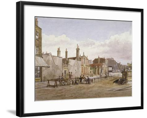 Skinners' Almshouses and Trinity Almshouses, Mile End Road, Stepney, London, 1883-John Crowther-Framed Art Print