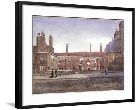 Stafford Alms Houses, Gray's Inn Road, London, 1882-John Crowther-Framed Art Print