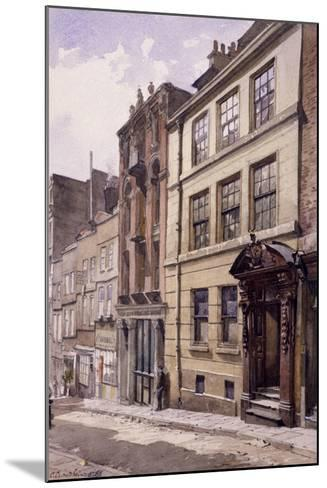Painter-Stainers' Hall, Little Trinity Lane, London, 1888-John Crowther-Mounted Giclee Print