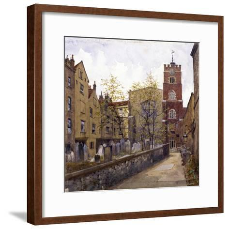 St Bartholomew's Priory, London, 1880-John Crowther-Framed Art Print