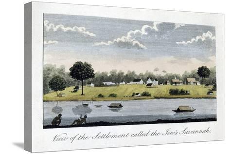 View of the Settlement Called the Jew's Savannah, 1813-John Gabriel Stedman-Stretched Canvas Print