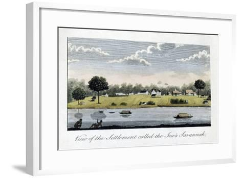 View of the Settlement Called the Jew's Savannah, 1813-John Gabriel Stedman-Framed Art Print