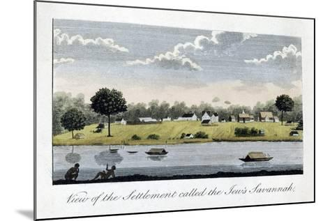 View of the Settlement Called the Jew's Savannah, 1813-John Gabriel Stedman-Mounted Giclee Print
