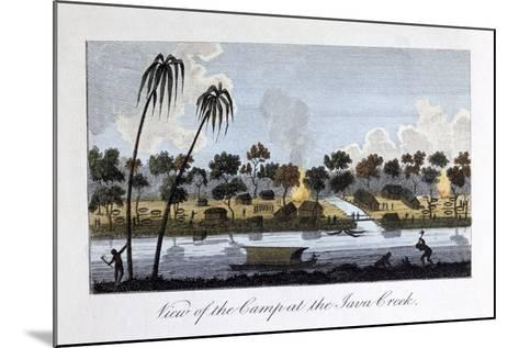 View of the Camp at the Java Creek, 1813-John Gabriel Stedman-Mounted Giclee Print