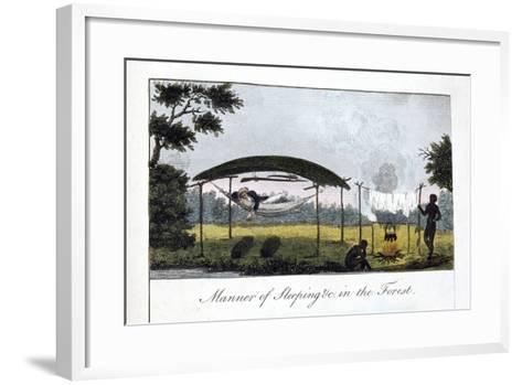 Manner of Sleeping in the Forest, 1813-John Gabriel Stedman-Framed Art Print