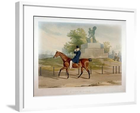 The Duke of Wellington Riding Past the Achilles Statue in Hyde Park, London, 1844-John Harris-Framed Art Print