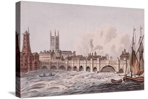 London Bridge, London, 1823-John Hassall-Stretched Canvas Print