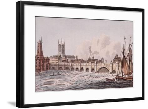 London Bridge, London, 1823-John Hassall-Framed Art Print
