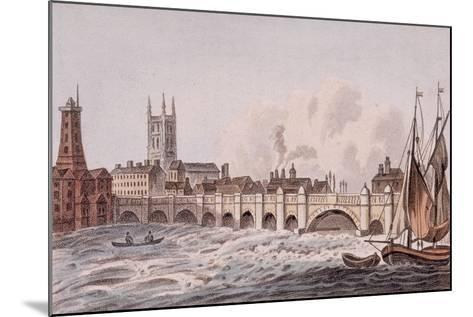 London Bridge, London, 1823-John Hassall-Mounted Giclee Print
