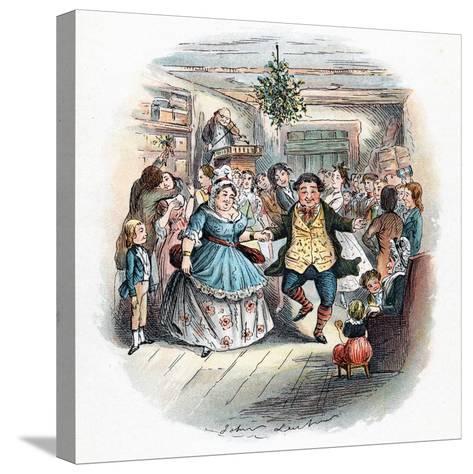 A Christmas Carol: Mr Fezziwig's Ball, 1843-John Leech-Stretched Canvas Print