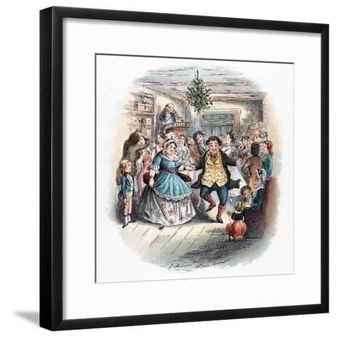 A Christmas Carol: Mr Fezziwig's Ball, 1843-John Leech-Framed Art Print