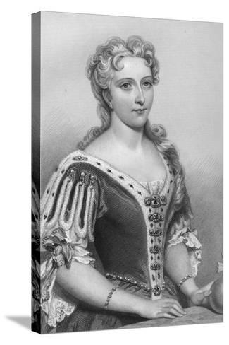 Caroline of Brandenburg-Ansbach (1683-173), Queen Consort of King George Ii, 1851-John Brown-Stretched Canvas Print