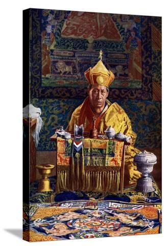 The Deb Raja, Acting Head of the Buddhist Church of Bhutan, 1922-John Claude White-Stretched Canvas Print