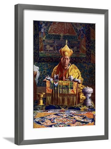 The Deb Raja, Acting Head of the Buddhist Church of Bhutan, 1922-John Claude White-Framed Art Print