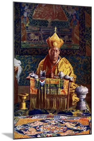 The Deb Raja, Acting Head of the Buddhist Church of Bhutan, 1922-John Claude White-Mounted Giclee Print