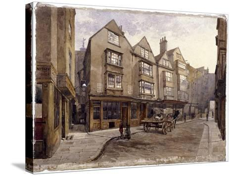 Cloth Fair, London, 1884-John Crowther-Stretched Canvas Print