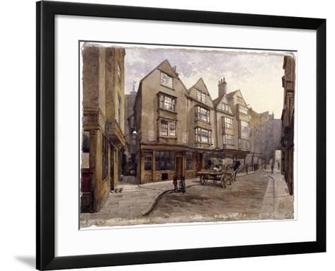 Cloth Fair, London, 1884-John Crowther-Framed Art Print