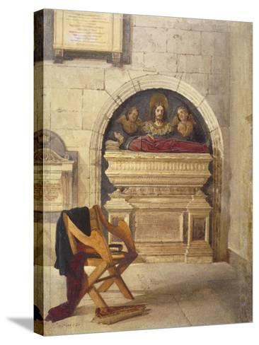 Tomb of Dr John Yonge, Rolls Chapel, Chancery Lane, London, 1880-John Crowther-Stretched Canvas Print