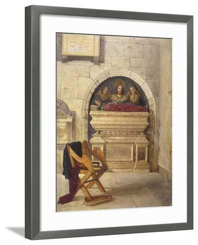 Tomb of Dr John Yonge, Rolls Chapel, Chancery Lane, London, 1880-John Crowther-Framed Art Print