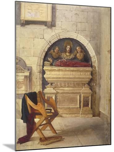 Tomb of Dr John Yonge, Rolls Chapel, Chancery Lane, London, 1880-John Crowther-Mounted Giclee Print