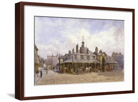View of Oxford Market, St Marylebone, Westminster, London, C1880-John Crowther-Framed Art Print