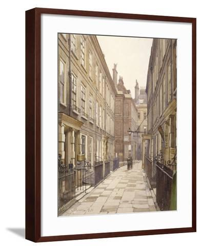 View of Catherine Court, Tower Hill, London, Looking East, 1886-John Crowther-Framed Art Print