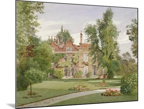 Side View of Raleigh House, Brixton Hill, Lambeth, London, 1887-John Crowther-Mounted Giclee Print
