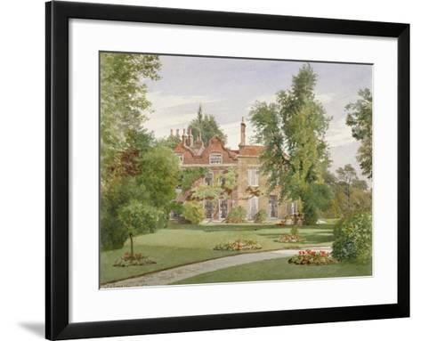 Side View of Raleigh House, Brixton Hill, Lambeth, London, 1887-John Crowther-Framed Art Print