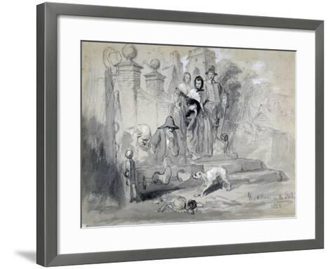 Hudibras in the Stocks, 1850-John Gilbert-Framed Art Print
