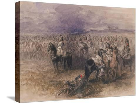 French Cavalry, 1851-John Gilbert-Stretched Canvas Print