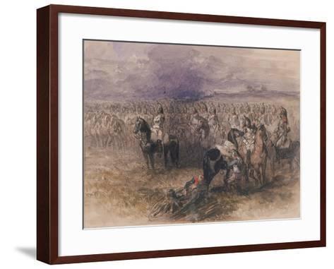 French Cavalry, 1851-John Gilbert-Framed Art Print