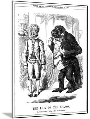 The Lion of the Season, 1861-John Leech-Mounted Giclee Print