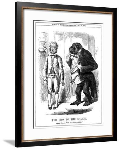The Lion of the Season, 1861-John Leech-Framed Art Print