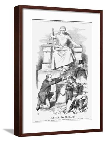 Justice to Ireland, 1869-John Tenniel-Framed Art Print