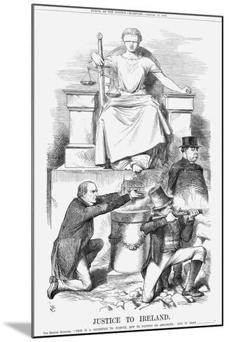 Justice to Ireland, 1869-John Tenniel-Mounted Giclee Print