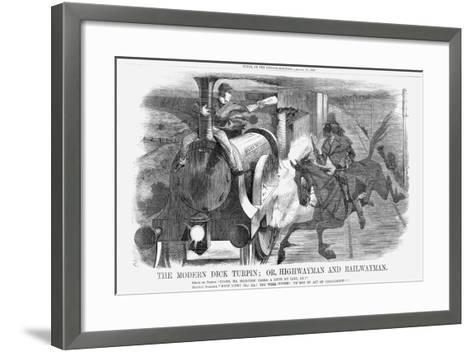The Modern Dick Turpin; Or, Highwayman and Railwayman, 1868-John Tenniel-Framed Art Print