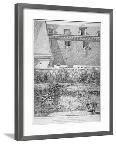 View of Parts of London Wall and Old Bethlehem Hospital (Bedla), City of London, 1814-John Thomas Smith-Framed Art Print