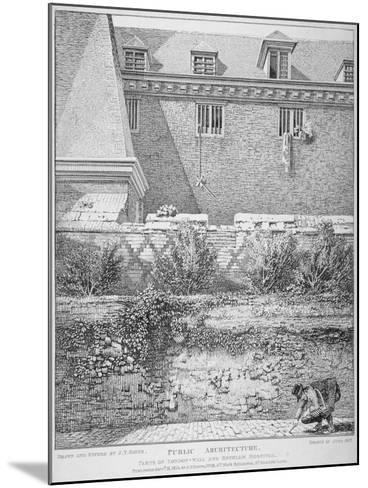 View of Parts of London Wall and Old Bethlehem Hospital (Bedla), City of London, 1814-John Thomas Smith-Mounted Giclee Print