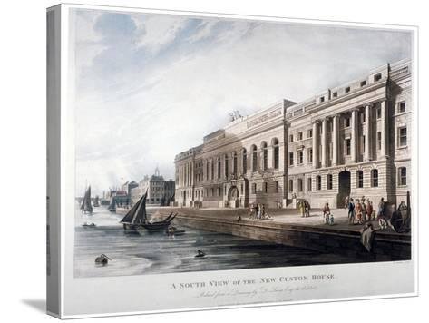 Custom House, City of London, 1817-Joseph Constantine Stadler-Stretched Canvas Print