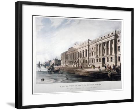 Custom House, City of London, 1817-Joseph Constantine Stadler-Framed Art Print