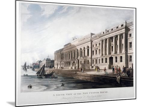 Custom House, City of London, 1817-Joseph Constantine Stadler-Mounted Giclee Print
