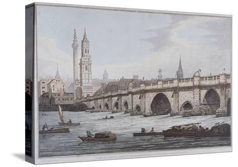 London Bridge, London, 1790-Joseph Constantine Stadler-Stretched Canvas Print