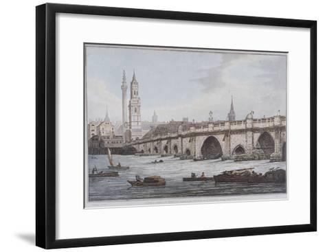 London Bridge, London, 1790-Joseph Constantine Stadler-Framed Art Print