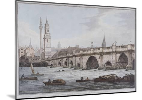 London Bridge, London, 1790-Joseph Constantine Stadler-Mounted Giclee Print