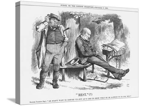 Rest , 1881-Joseph Swain-Stretched Canvas Print
