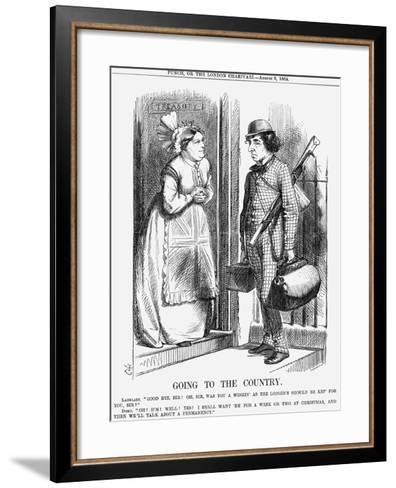 Going to the Country, 1868-John Tenniel-Framed Art Print